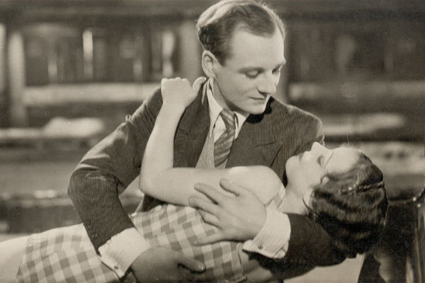 "John Gielgud and Jessie Matthews in ""The Good Companions."" A beautiful and touching film directed by Victor Saville."