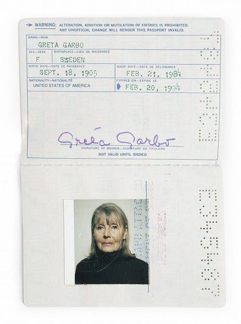 Hate your passport photo? I'll bet Greta Garbo wasn't thrilled with her 1984 passport.