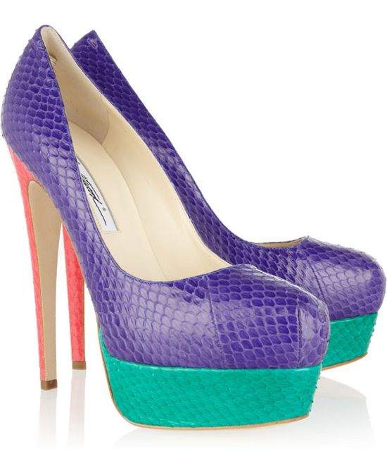 Color is making a big comeback in 2013. Hamper Elaphee Pumps by Brian Atrwood.