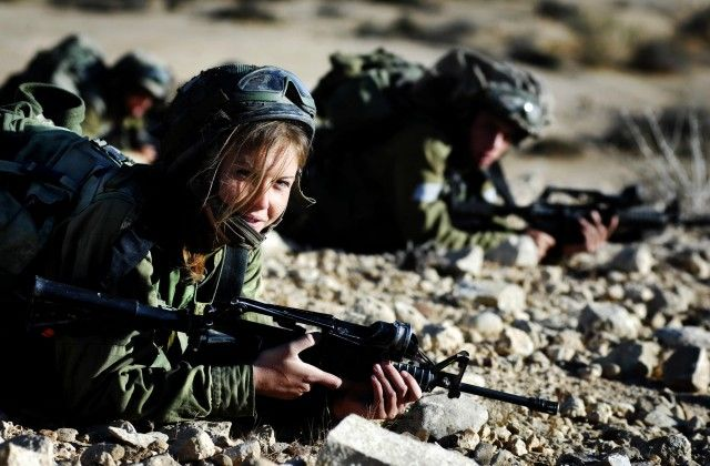 Caracal Battalion female soldiers in action.