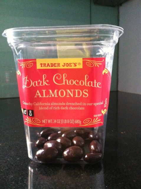 This looks like a picture of Trader Joe's Chocolate Covered Almonds, but it's really crack.
