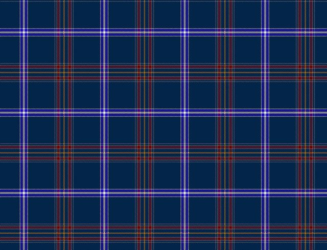 This is not just some ordinary tartan, but the official tartan for the Jews of Scotland.