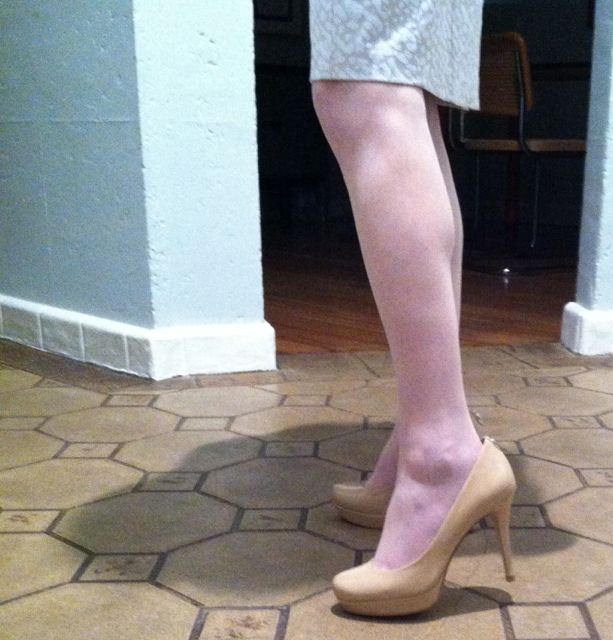 Meanwhile, Karen is wearing the Michael Kors Ilona pump.
