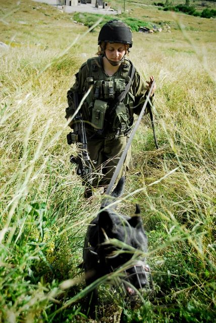Oketz female soldier during combat exercises.
