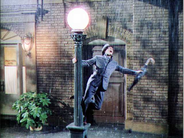 Gene Kelly is Singin' in the Rain, 1952.