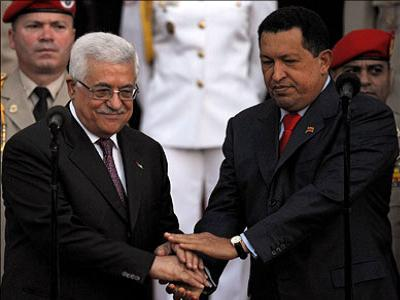 Holocaust denier Abbas with socialist tyrant Chavez.