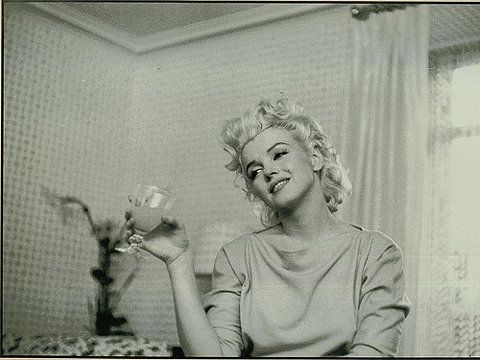 Marilyn makes a l'chaim.