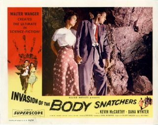 Lobby card for Invasion of the Body Snatchers, 1956.