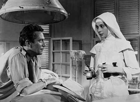 Peter Finch and Audrey Hepburn, The Nun's Story, 1959.