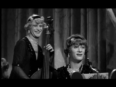 Jack Lemmon and Tony Curtis in Some Like It Hot, 1959.