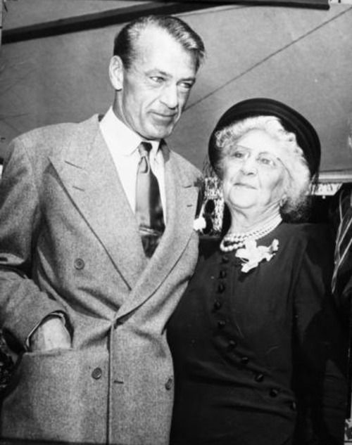Gary Cooper with his mother Alice.