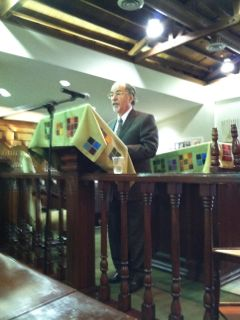 David Horowitz delivers the Tenth Annual Ariel Avrech Memorial Lecture at the Young Israel of Century City.