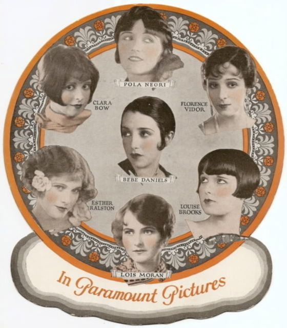 In 1926, Paramount Pictures published this publicity photo of their leading stars, all sporting the stylish Bob.