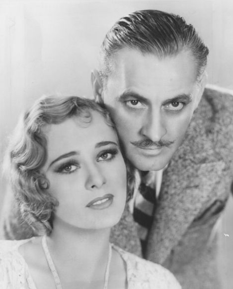 John Barrymore and Dolores Costello were married for a few turbulent years. Costello was one of the most beautiful women ever to grace the silver screen. Sadly, her fair skin was badly damaged by the harsh make-up in use during the silent film period.  Barrymore, a drunk and serial philanderer, drank himself to death.