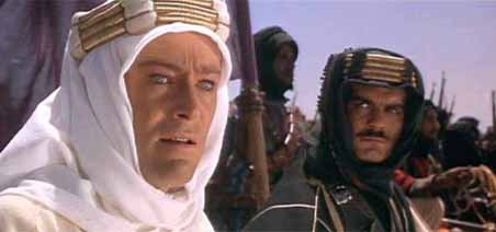 Peter O'Toole and Omar Sharif, Lawrence of Arabia, 1962.