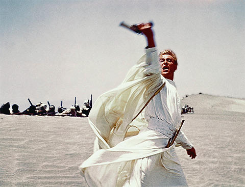 Peter O'Toole as Lawrence of Arabia.