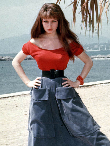 Brigitte Bardot as a 19 year old starlet in a 1955 photo from Cannes.