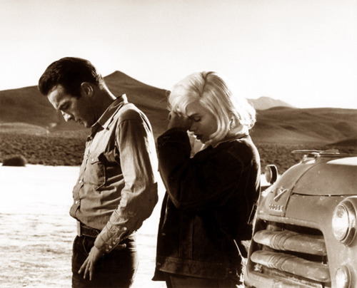 Montgomery Clift and Marilyn Monroe, The Misfits (1961).
