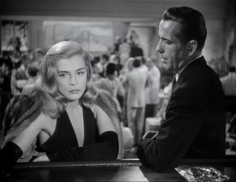 """Dead Reckoning"" Humphrey Bogart to Lizabeth Scott: ""You know the trouble with women is—they ask just too many questions. They should spend all their time just being beautiful."""
