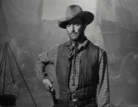 """In """"Westward the Women"""" ('51), Robert Taylor explains why he prefers, um, dance hall girls: """"Only two things in this life scare me, and a good woman's both of them."""""""