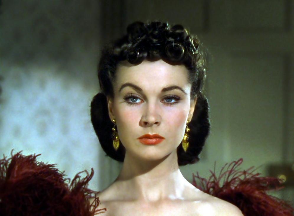 "Vivien Leigh as Scarlett O'Hara. Ss MGM's chief hair stylist, from 1934 to the late 1970s, Guilaroff was responsible for styling ""Gone With the Wind."""