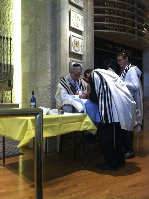 Yours truly, was sandek at the brit milah of our first grandson, Ariel Chaim, a few weeks ago. According to Jewish law any nation that outlaws Jewish circumcision is de facto, at war with Torah Judaism.