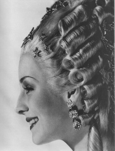 Guilaroff's brilliant hair style for Norma Shearer as Marie Antoinette.