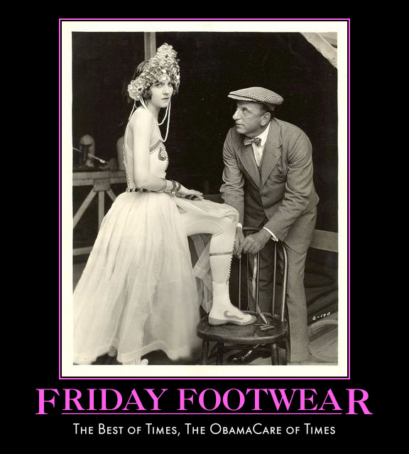 Silent star Julanne Johnston, 1924, wearing very odd shoes. Not a clue.