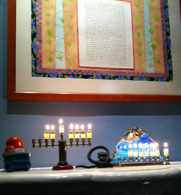 Karen and I wish all our friends and relatives a joyous and meaningful Chanukah.