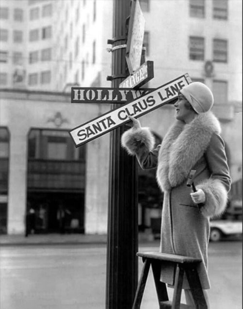 Mary Pickford helps Hollywood celebrate Christmas, 1920s.