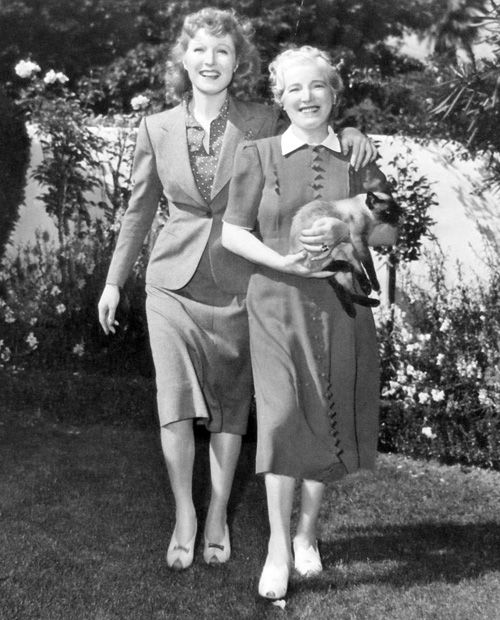 Greer Garson with her mother, Nina.