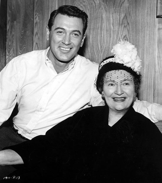 Rock Hudson with his mother ***, 1961.