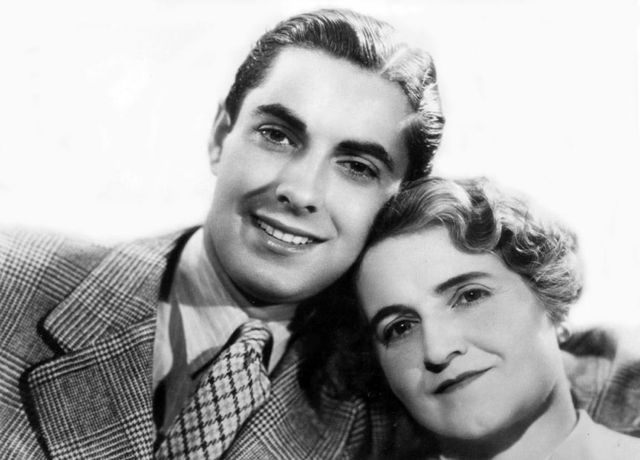 Tyrone Power with his mother Patia.