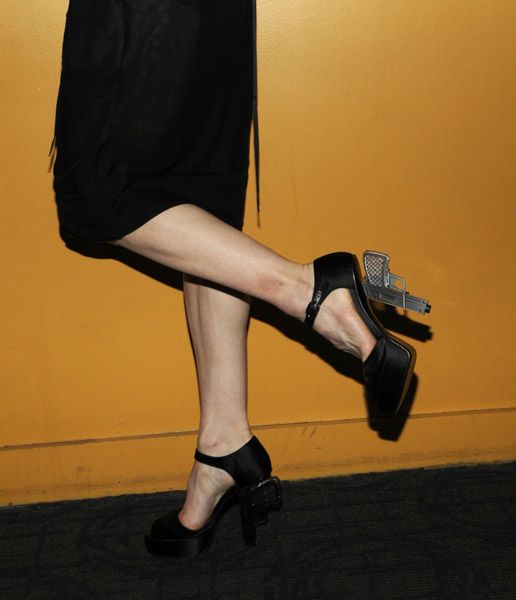 Chanel's handgun heels are form several years ago. But they remain a favorite of right-thinking fashionistas.