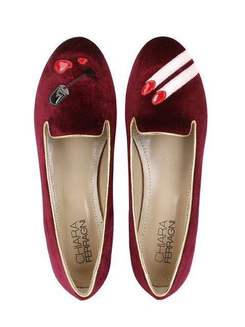 Chiara Ferragni's nail polish flats hit two female sweet spots: shoes and manicures.