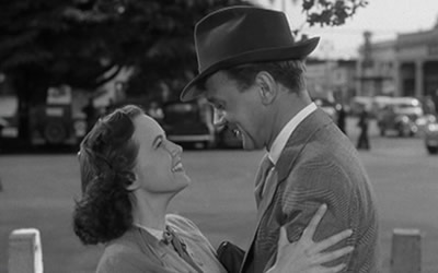 Teresa Wright and Joseph Cotten in Shadow of a Doubt, '48.