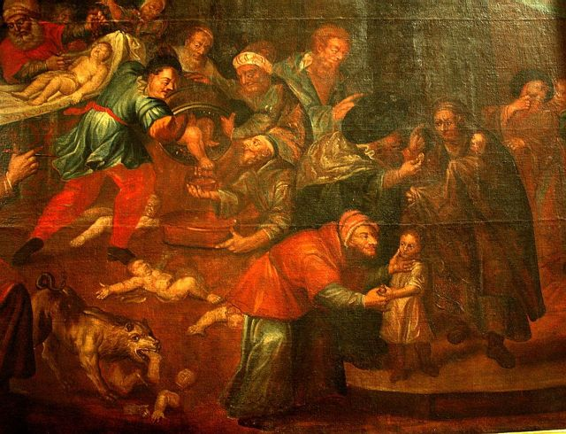 Painting of blood libel in Sandomierz Cathedral