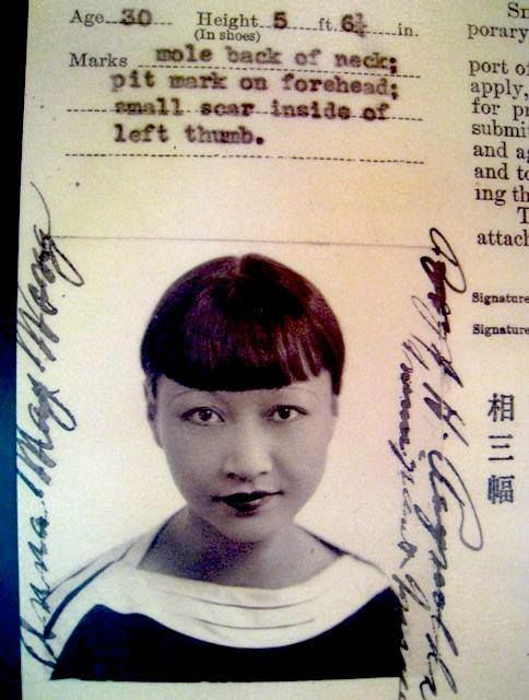Here's Anna May's passport photo. Not bad.