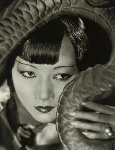 Here's Anna May Wong in the 1930s, in a studio publicity still.