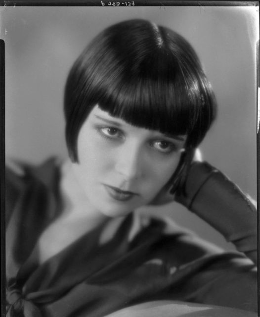Publicity photo of silent star Louise Brooks at the height of her fame in the late 1920's.