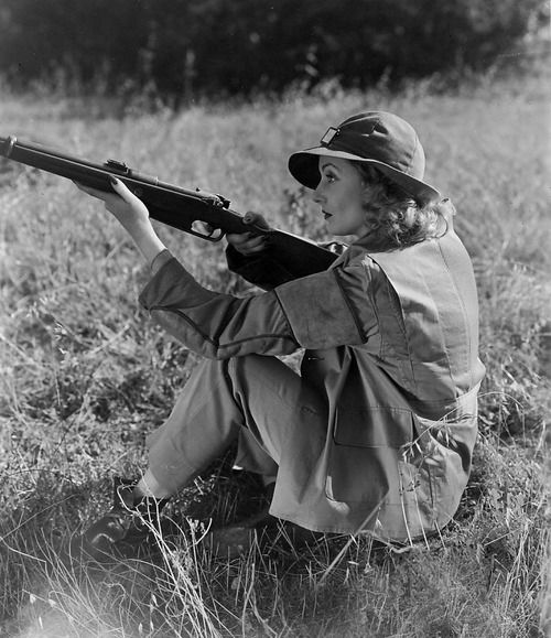 Carole Lombard  became an avid hunter and skeet shooter when she married Clark Gable.