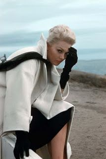 Kim Novak and the set of Vertigo. Like BB in our first photo she seems deep in thought, or perhaps she's tin the midst of a serious identity crisis.