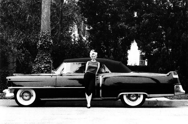 Marilyn Monroe and her 1954 Cadillac.