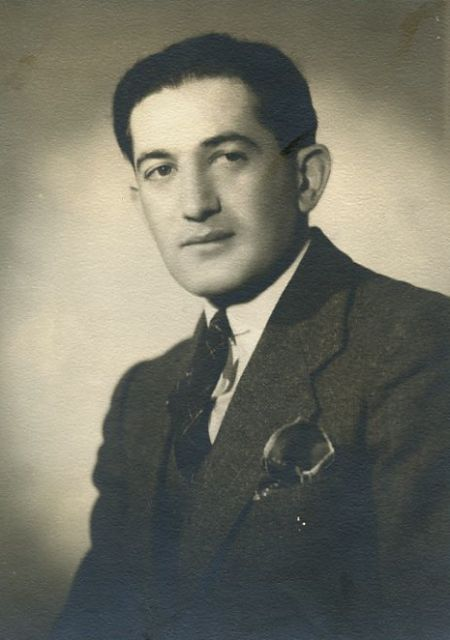 My father, Rabbi Abraham Avrech. This photo was taken when he was a student in Yeshiva University. Soon afterwards, he joined the Army as a Chaplain and served in the rainbow Division in World War II, the Korean War, and Vietnam.