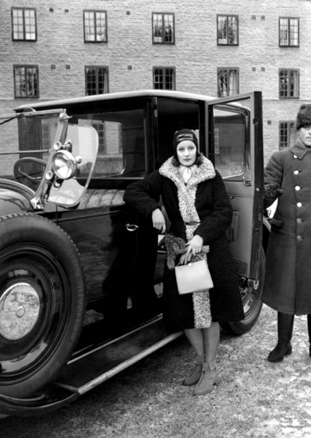 When Garbo returned to her native Sweden to visit family and friends, she traveled in style.