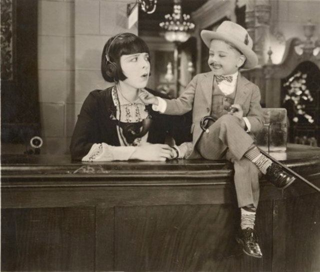 Mickey Rooney with Colleen Moore in Orchids & Ermine, 1927.