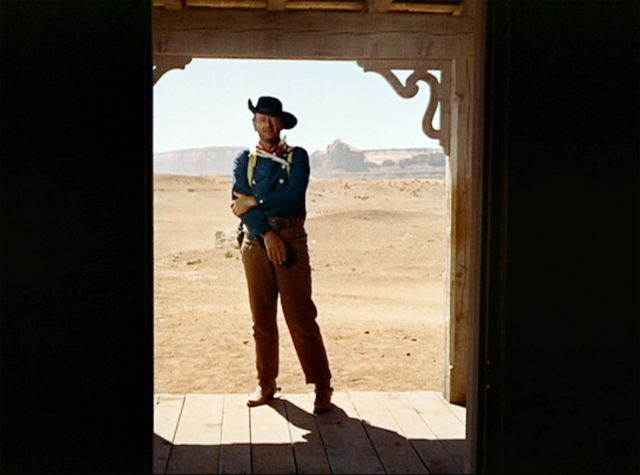 John Wayne as Ethan Edwards in The Searchers.