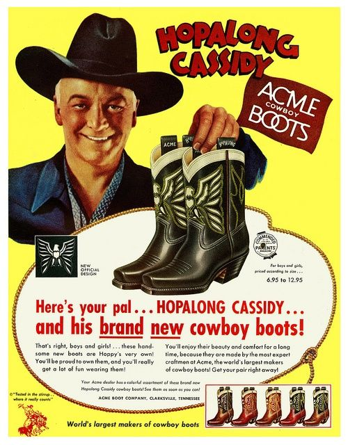 I would buy these official Hopalong Cassidy boots in a NY minute.