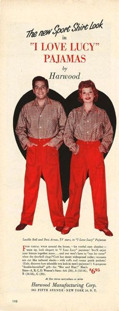 Lucy and Desi are awesomely fashion forward in their matching I Love Lucy Pajamas.