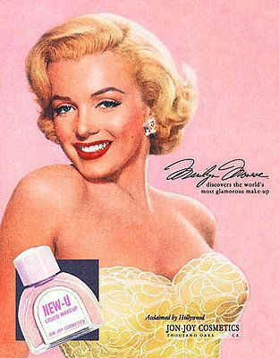 Marilyn Monroe's cleavage for Jon-Joy cosmetics.